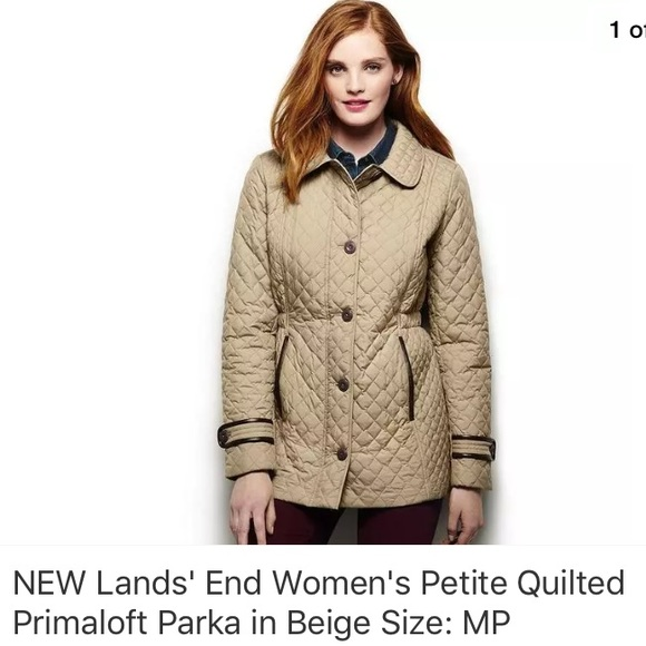 84433a462c3 Lands  End Women s Petite Quilted Primaloft Parka